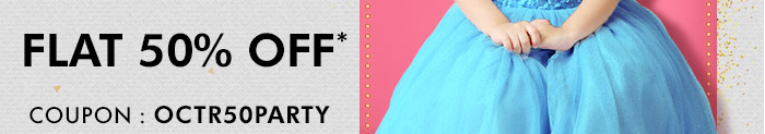 Flat 50% OFF* | Coupon : OCTR50PARTY