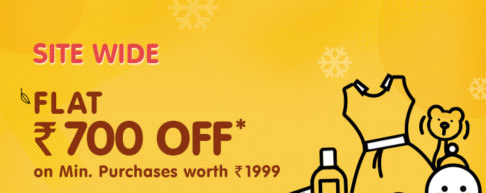 SITEWIDE-Flat Rs. 700 OFF* on Minimum Purchases worth Rs. 1999