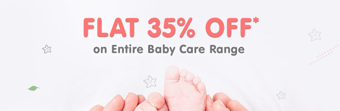 Flat 35% OFF* on Entire Baby Care Range