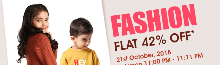 Flat 42% OFF* on Entire Fashion Range |  COUPON:FSHN42