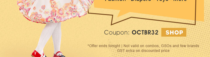 *Offer ends tonight | Not valid on combos, GSOs and few brands | GST extra on discounted price