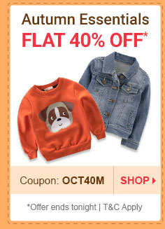 Flat 40% OFF* on Autumn Essentials