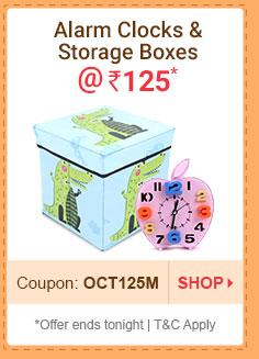 Alarm Clocks & Storage Boxes @ Rs. 125*
