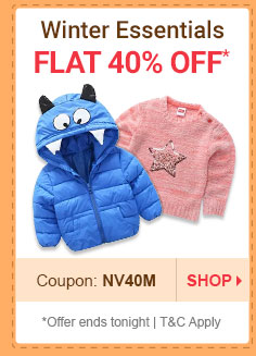 Flat 40% OFF* on Winter Essentials | Coupon: NV40M