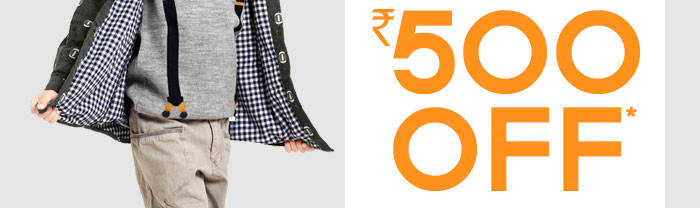 Flat Rs. 500 OFF* on Entire Fashion Range | COUPON: OCTR500FSH