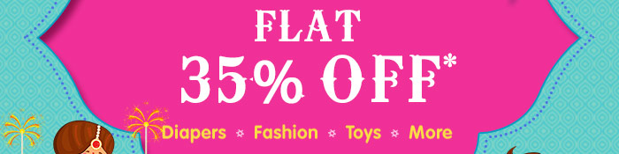 Flat 35% OFF* | Diapers | Fashion | Baby Care | More