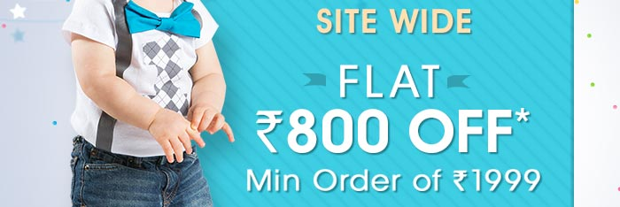 SITEWIDE - Flat Rs. 800 OFF* On Minimum Purchases of Worth Rs. 1999