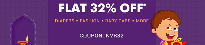Flat 32% OFF* on Site wide