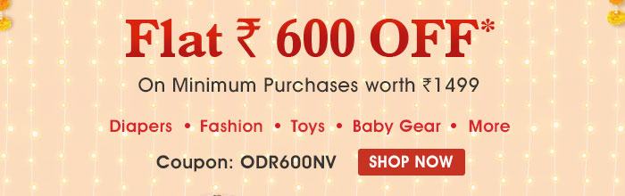 SITEWIDE Flat Rs. 600 OFF* On Minimum Purchases worth Rs. 1499