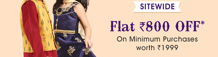 SITEWIDE Flat Rs. 800 OFF* On Minimum Purchases worth Rs. 1999