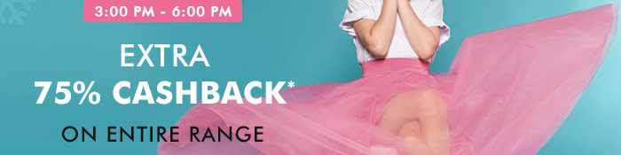 Extra 75% Cashback* on Entire Fashion Range  |  Coupon: NV75FC