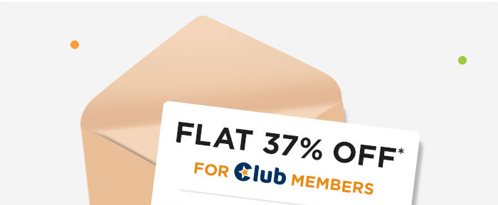 Flat 37% OFF* For Club Members