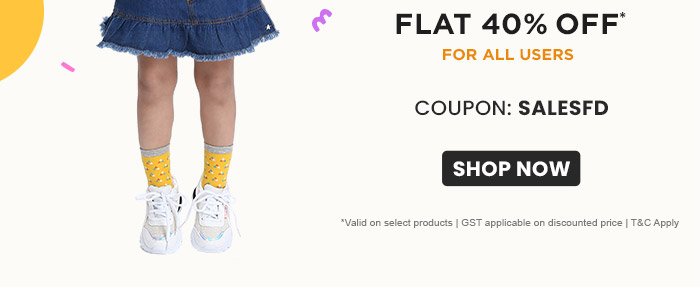 FLAT 40% OFF* For All Users