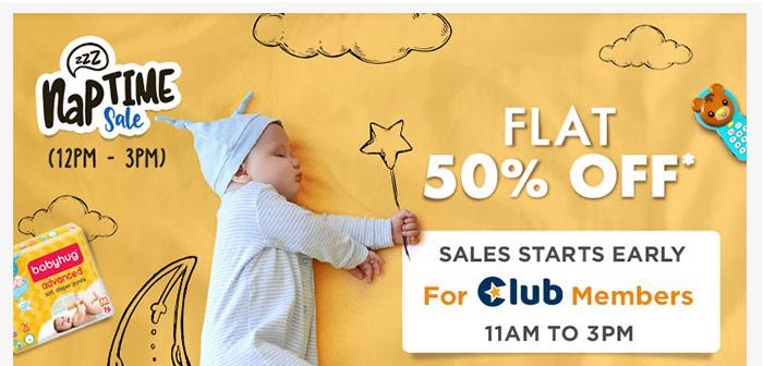 Naptime Sale Flat 50% OFF