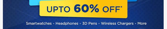 Upto 60% OFF*