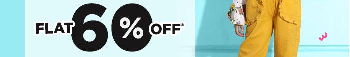 FLAT 60% OFF*