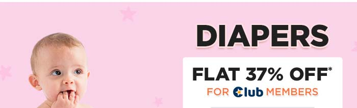 Diapers Flat 37% OFF* For Club Members