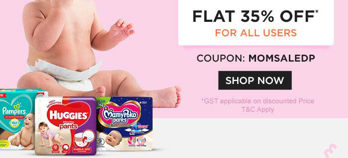 Diapers Flat 35% OFF* For All users