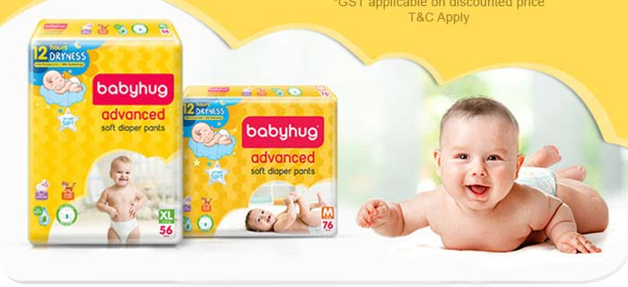 Babyhug Diapers Flat 55% OFF* for Club Members Flat 50% OFF* for All Users