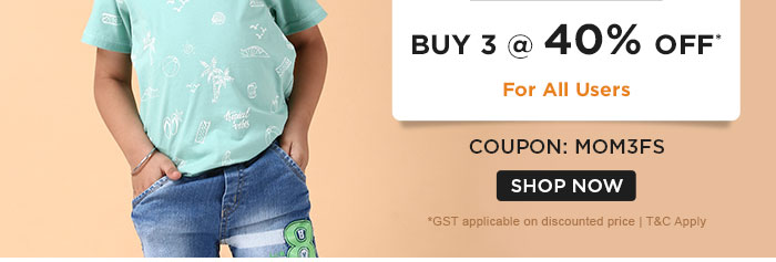 FASHION Buy 3 @ 40% OFF* For All Users