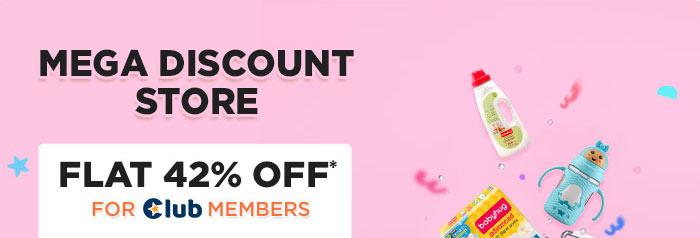 Mega Discount Store Flat 42% OFF* For Club Members