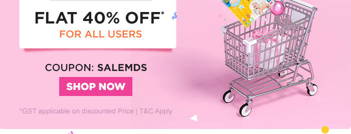 Flat 40% OFF* All Users