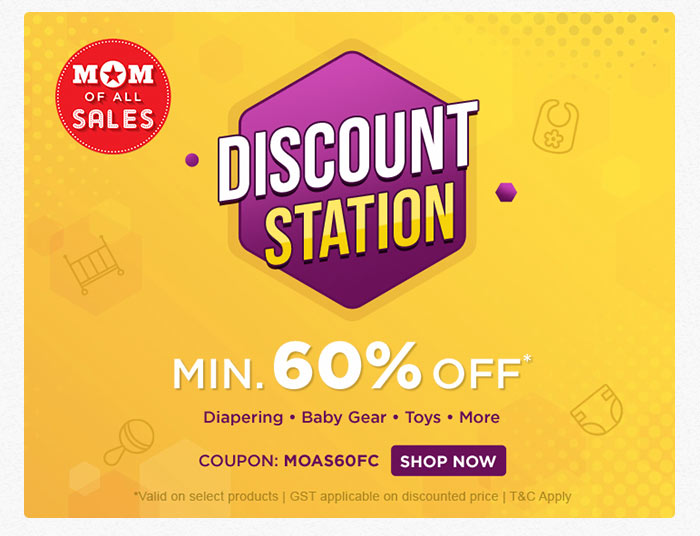 DISCOUNT STATION Min. 60% OFF*