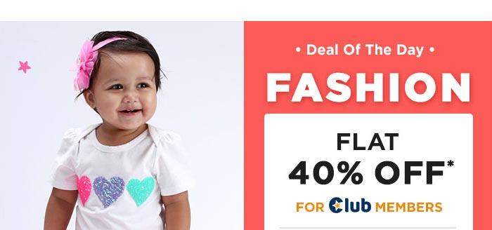 Fashion Flat 40% OFF* For Club Members