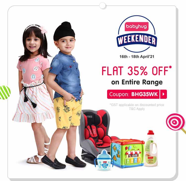Babyhug Weekender FLAT 35% OFF* on Entire Range