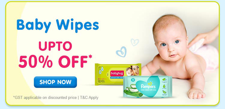 Baby Wipes Upto 50% OFF*