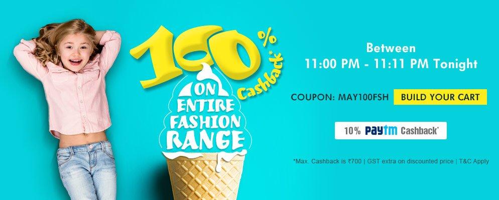 11@11: 100% cashback on Fashion
