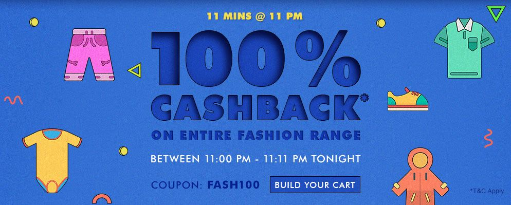 11@11: 100% cashback on Fashion