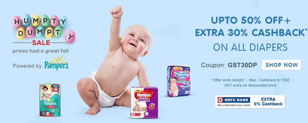 Cashback* on All Diapers