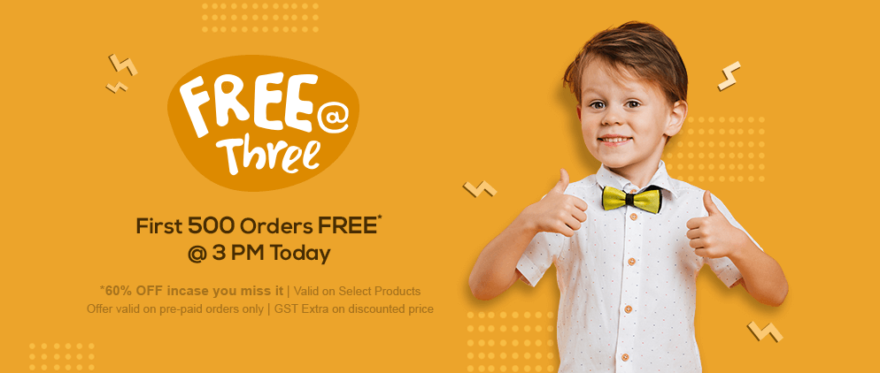 Free at Three Offer at FirstCry.com