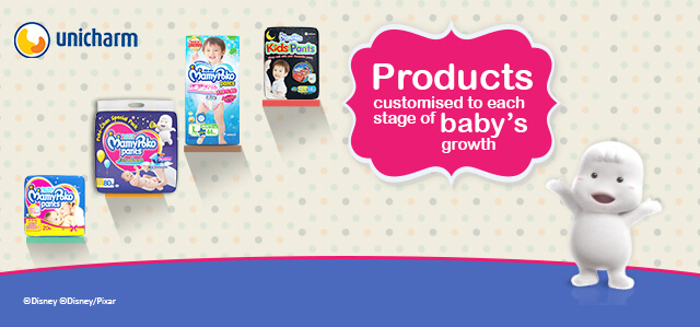 Products customised to each stage of baby's growth
