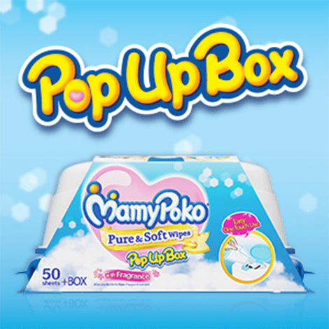 Pure & Soft  Wipes Pop up Box