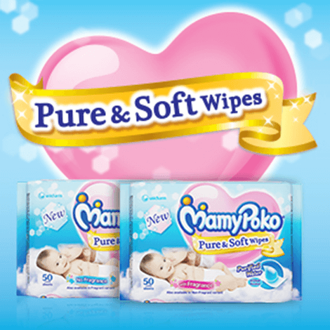 Mamypoko Pure & Soft Wipes