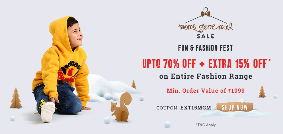 Moms Gone Mad Sale upto 70% OFF + Extra 15% OFF*