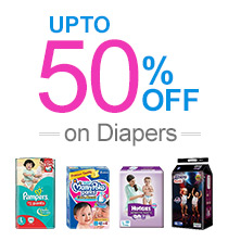 UPTO 50% on Diapers