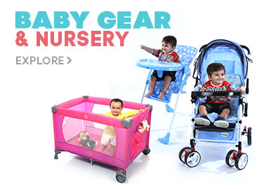 Avail 25% OFF on Baby Gear and Nursery Range (On min. spend of Rs.3000. Max. discount of Rs.2000 will be offered)