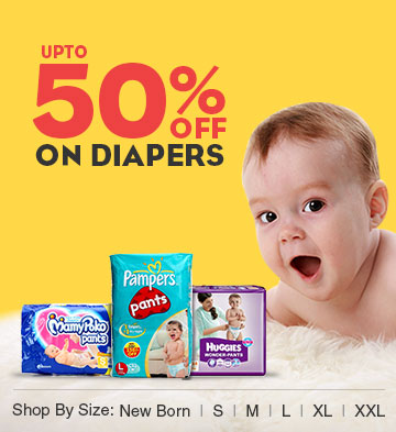 50% Off on Diapers
