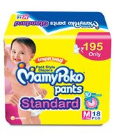 MamyPoko Standard Pant Style Diapers Medium - 18 Pieces