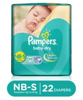 Pampers Baby Dry Diapers Newborn To Small - 22 Pieces