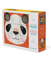 Crocodile Creek Block Set Animal Make A Face Multicolor - Pack Of 9