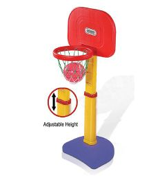 Playgro Toys Adjustable Basket Ball Set - Red Blue Red