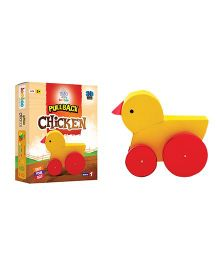 Jumboo 3D DIY Art And Craft Set Pull Back Chicken Toy - Multi Color