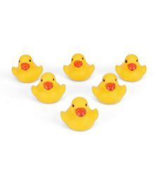 Babyhug Duckling Bath Toys Set Of 6 (Color May Vary)