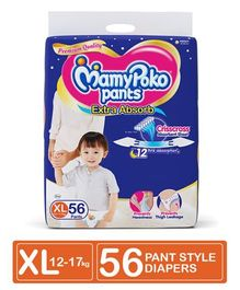 MamyPoko Extra Absorb Pant Style Diapers Extra Large - 56 Pieces