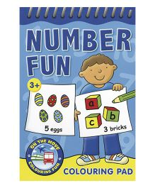 Number Fun Colouring Pad Blue - English