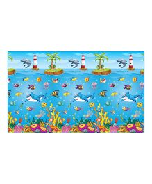 FashBlush Non Woven Free Play Mat Under Water Print - Multi color